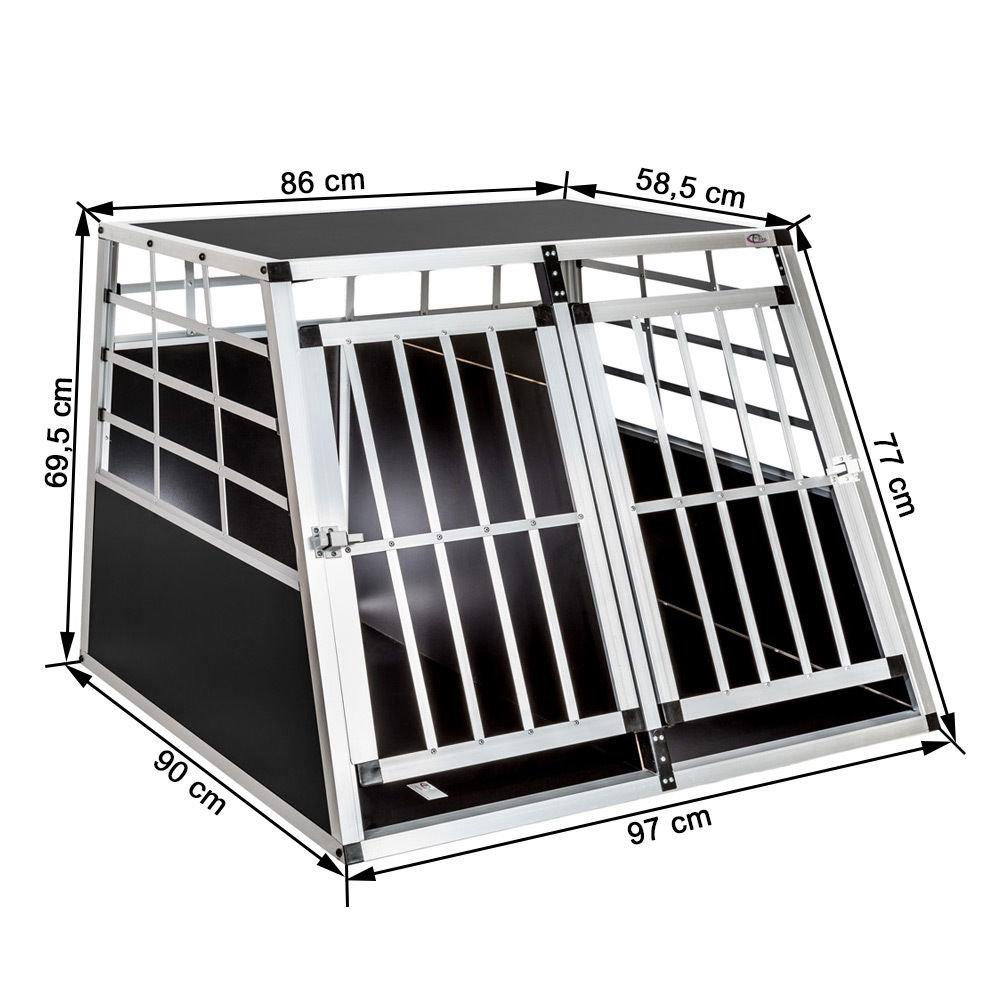 doppel hundetransportbox mit trennwand